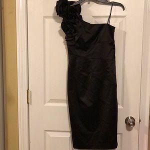 Jessica Simpson Black One Shoulder Dress
